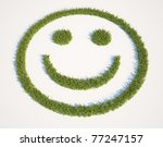 Smiley Face Shaped Grass Patch