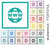 www globe flat color icons with ... | Shutterstock .eps vector #772472716