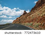 modern highway in arizona ... | Shutterstock . vector #772473610