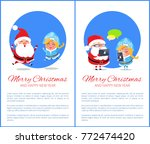merry christmas and happy new... | Shutterstock .eps vector #772474420