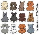 vector set of dog | Shutterstock .eps vector #772475014