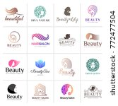 big vector logo set for beauty... | Shutterstock .eps vector #772477504