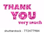 thank you greeting card. 3d... | Shutterstock .eps vector #772477984