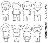 vector set of children | Shutterstock .eps vector #772478593