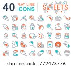set of vector line icons  sign... | Shutterstock .eps vector #772478776