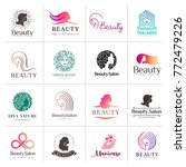 big vector logo set for beauty... | Shutterstock .eps vector #772479226