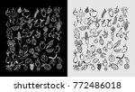 doodle fruits vector   Shutterstock .eps vector #772486018
