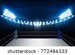 boxing ring arena and... | Shutterstock .eps vector #772486333