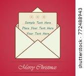 christmas mail  opened white... | Shutterstock .eps vector #772488943