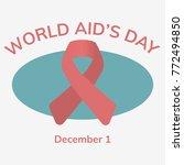 world aids day. 1st december... | Shutterstock .eps vector #772494850