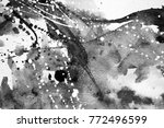 black and white abstract... | Shutterstock . vector #772496599