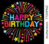 happy birthday firework | Shutterstock .eps vector #77249962