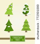 christmas tree sign board... | Shutterstock .eps vector #772501000