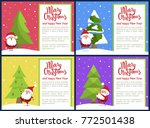 merry christmas and happy new... | Shutterstock .eps vector #772501438