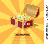 glossy treasure chest banner... | Shutterstock .eps vector #772501654