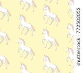 unicorn and rainbow seamless... | Shutterstock .eps vector #772502053