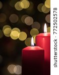 Small photo of Candles and advent lights. Advent wreath. Waiting for Christmas