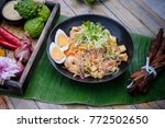 the art of thai healthy dish  ... | Shutterstock . vector #772502650