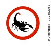 stop sign black scorpion.... | Shutterstock .eps vector #772503058