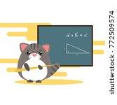 anthropomorphic gray  cat  ...   Shutterstock .eps vector #772509574