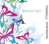 vector colorful background with ... | Shutterstock .eps vector #77250961