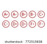 grade results  grade symbols... | Shutterstock .eps vector #772515838