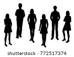 vector silhouettes of men and... | Shutterstock .eps vector #772517374
