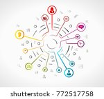 work concept illustration with... | Shutterstock .eps vector #772517758
