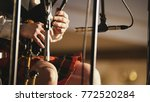 bagpipe player in a kilt plays... | Shutterstock . vector #772520284