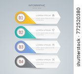 infographics design template... | Shutterstock .eps vector #772520380