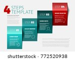 one two three four   vector... | Shutterstock .eps vector #772520938