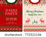 ugly sweater merry christmas... | Shutterstock .eps vector #772521136