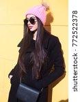 beautiful brunette woman in... | Shutterstock . vector #772522378