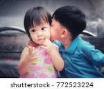 family and love concept  ... | Shutterstock . vector #772523224