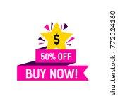 buy now creative banner | Shutterstock .eps vector #772524160