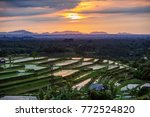 view to the jatiluwih rice... | Shutterstock . vector #772524820