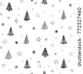 christmas tree set background.... | Shutterstock .eps vector #772527460