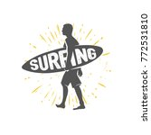 surfing logo. ride the wave.... | Shutterstock .eps vector #772531810