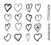 vector black and white hand...   Shutterstock .eps vector #772531834