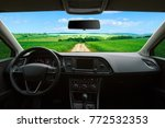 inside the car view of the... | Shutterstock . vector #772532353