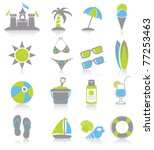 beach icon. | Shutterstock .eps vector #77253463