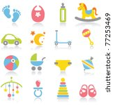 baby icons | Shutterstock .eps vector #77253469
