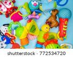 toys for baby  background | Shutterstock . vector #772534720