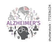 alzheimer's disease and... | Shutterstock .eps vector #772536124