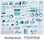 Big set of vector infographic elements with maps and icons.   Shutterstock vector #772537018