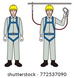 safety belt for workers | Shutterstock .eps vector #772537090