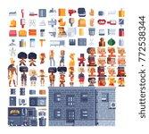 Pixel Art Icons Set. Theme Of...