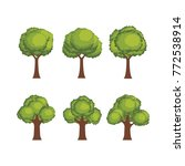 set of tree illustration vector | Shutterstock .eps vector #772538914