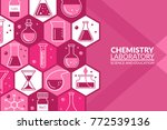 scientific laboratory research... | Shutterstock .eps vector #772539136