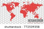 vector flat world map with... | Shutterstock .eps vector #772539358